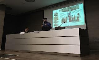 Rafa Höhr durante su charla en el CEU
