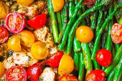 PESTO CHICKEN TORTELLINI AND VEGGIES