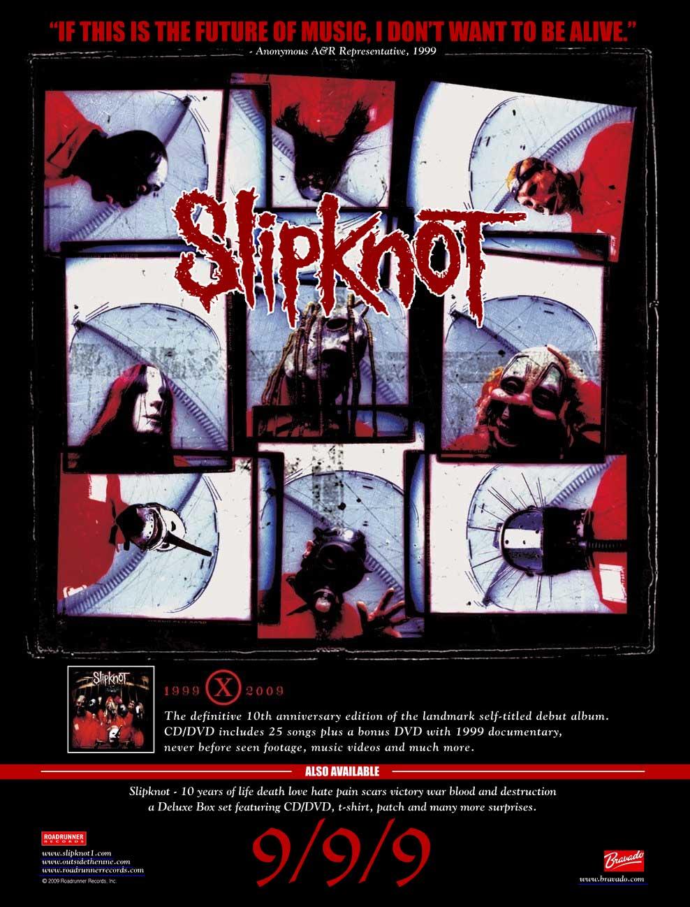 A2 Music Video Blog: Slipknot and Linkin Park album advert