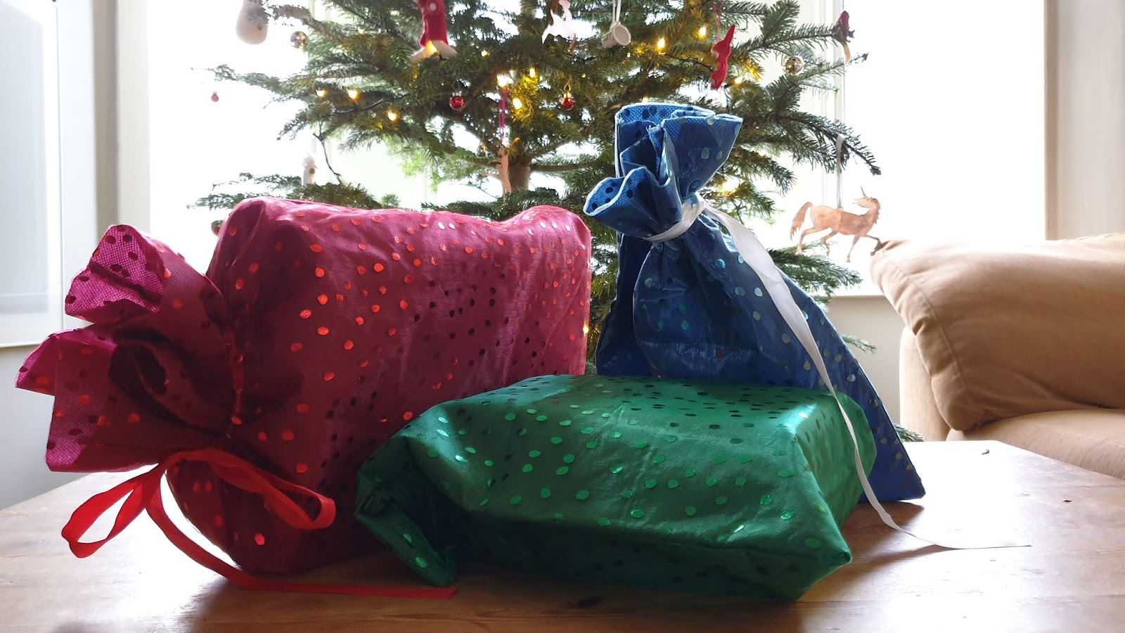 reusable gift bags for gift wrapping