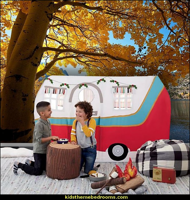 Boys Camping Room - Girls Camping Room - Camping and Outdoor Style Decor