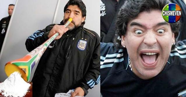 Crece el rumor de que Maradona murió aspirando una dosis de cocaína
