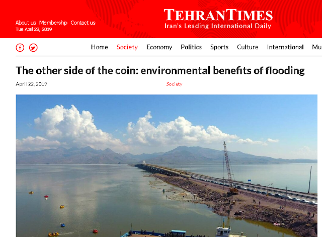 Over 70 were killed in Iran floods. Iran spins them to say the benefits outweigh the losses!