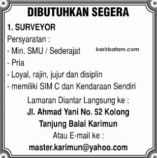 Lowongan Kerja Master Karimun