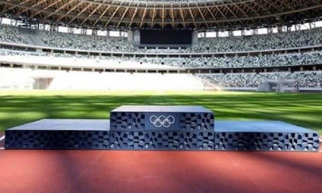 Παρουσιάστηκε το βάθρο των Ολυμπιακών Αγώνων