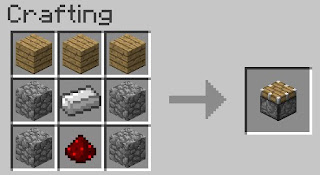 minecraft piston recipe