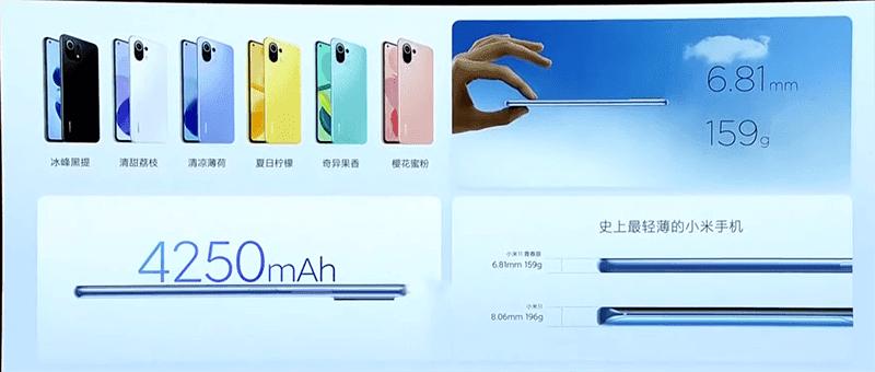 Xiaomi Mi 11 Lite 5G features