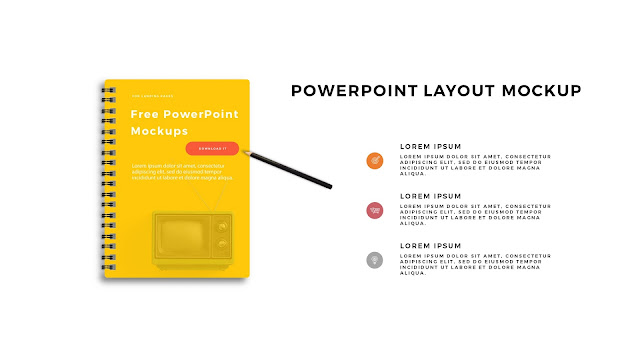 Infographic Spiral Book PowerPoint Mockup Template Slide 5