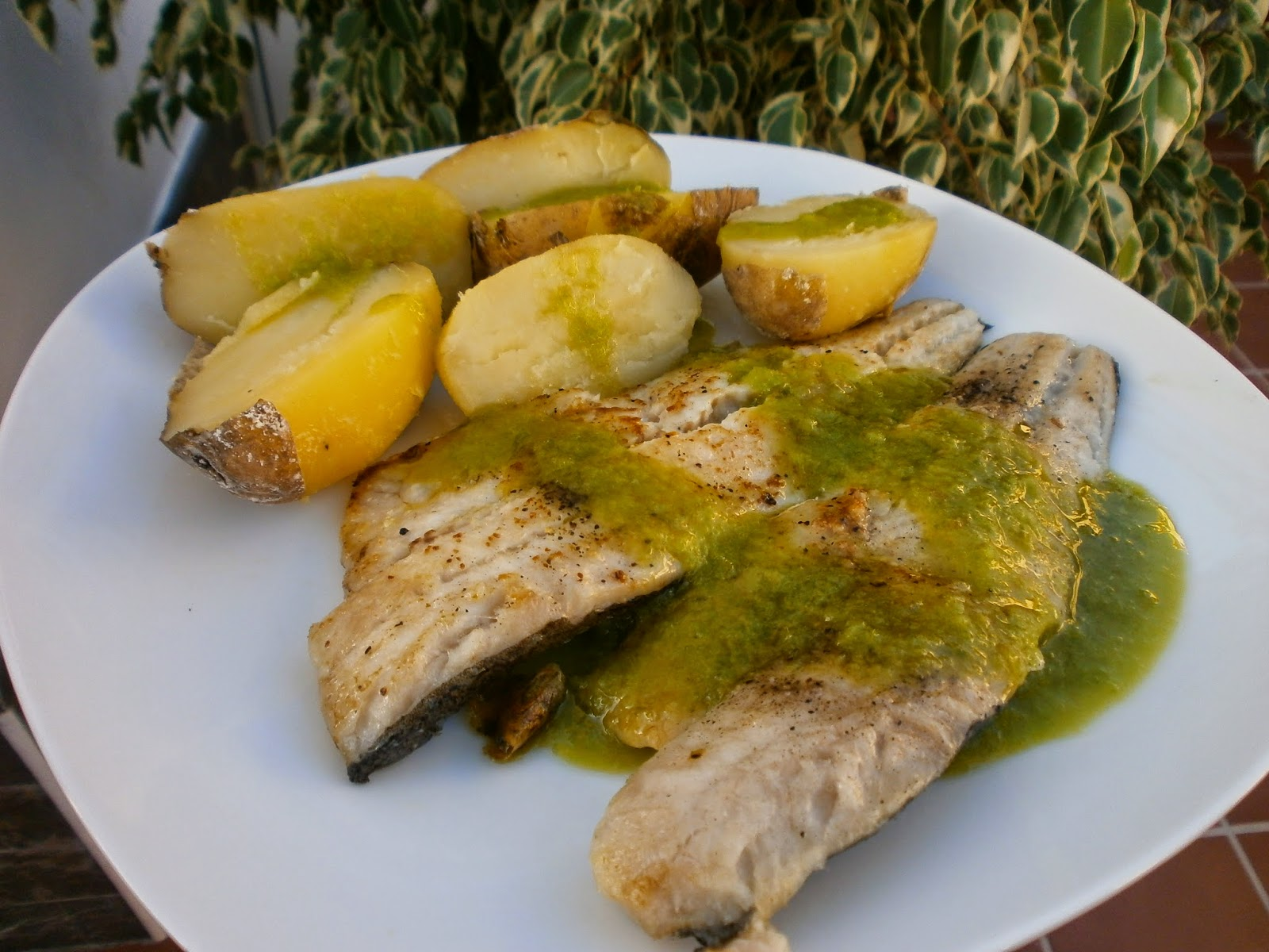 INGREDIENTES   filetes de merluza con piel   sal de ajo  pimienta negra  molida aceite de oliva virgen extra.Para el aceite de pimiento  1 trozo de  pimiento ... 3540805cd9c5