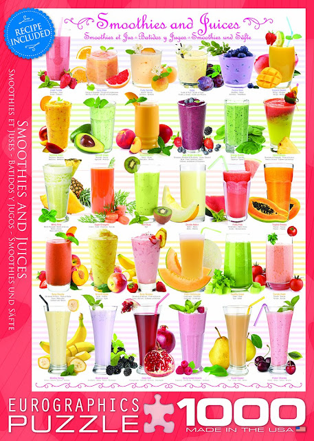 If you love smoothies and homemade fruit juice and you enjoy working a jigsaw puzzle, you will enjoy this Smoothies and Juices themed jigsaw puzzle!