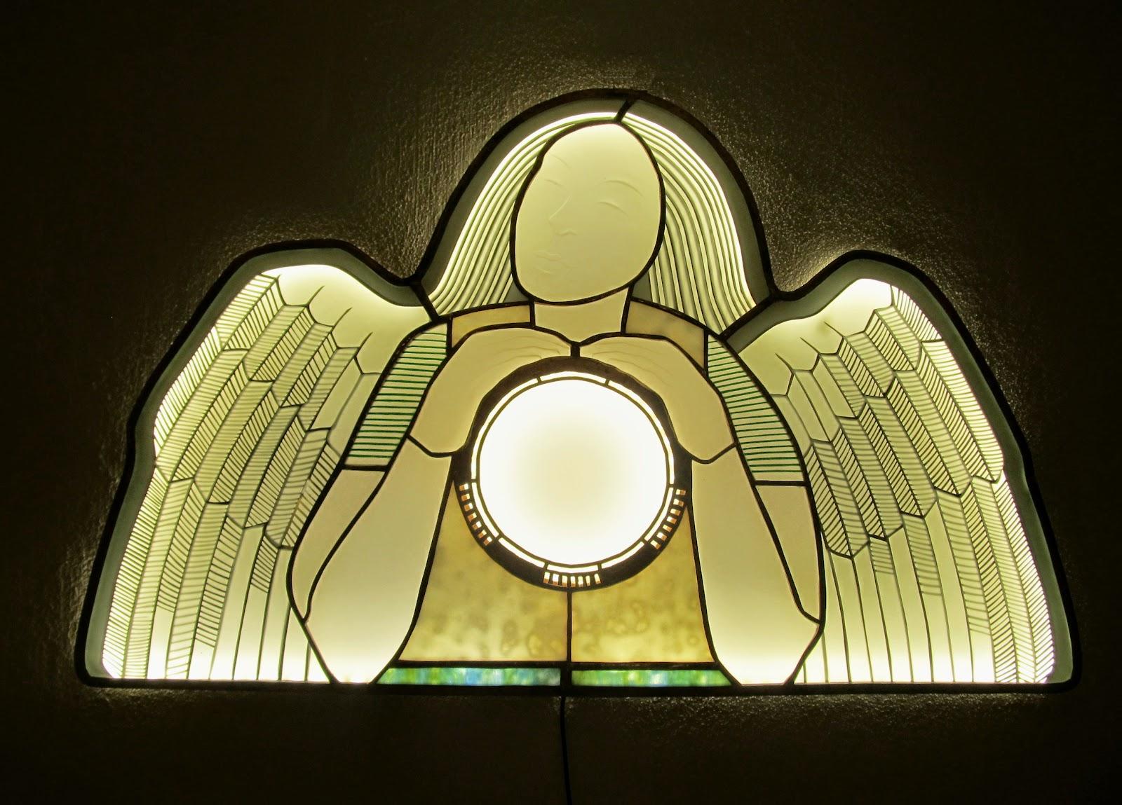 svítidlo vitráž
