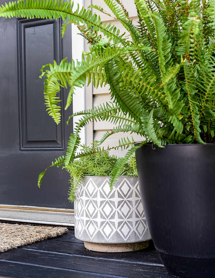 Modern deck pots and planters