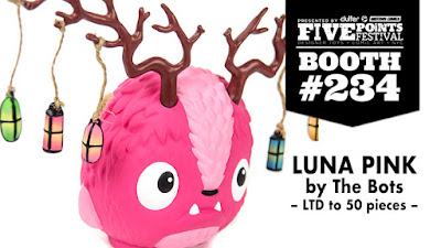 Five Points Festival Exclusive Clutter Pink Edition Luna Vinyl Figure by The Bots