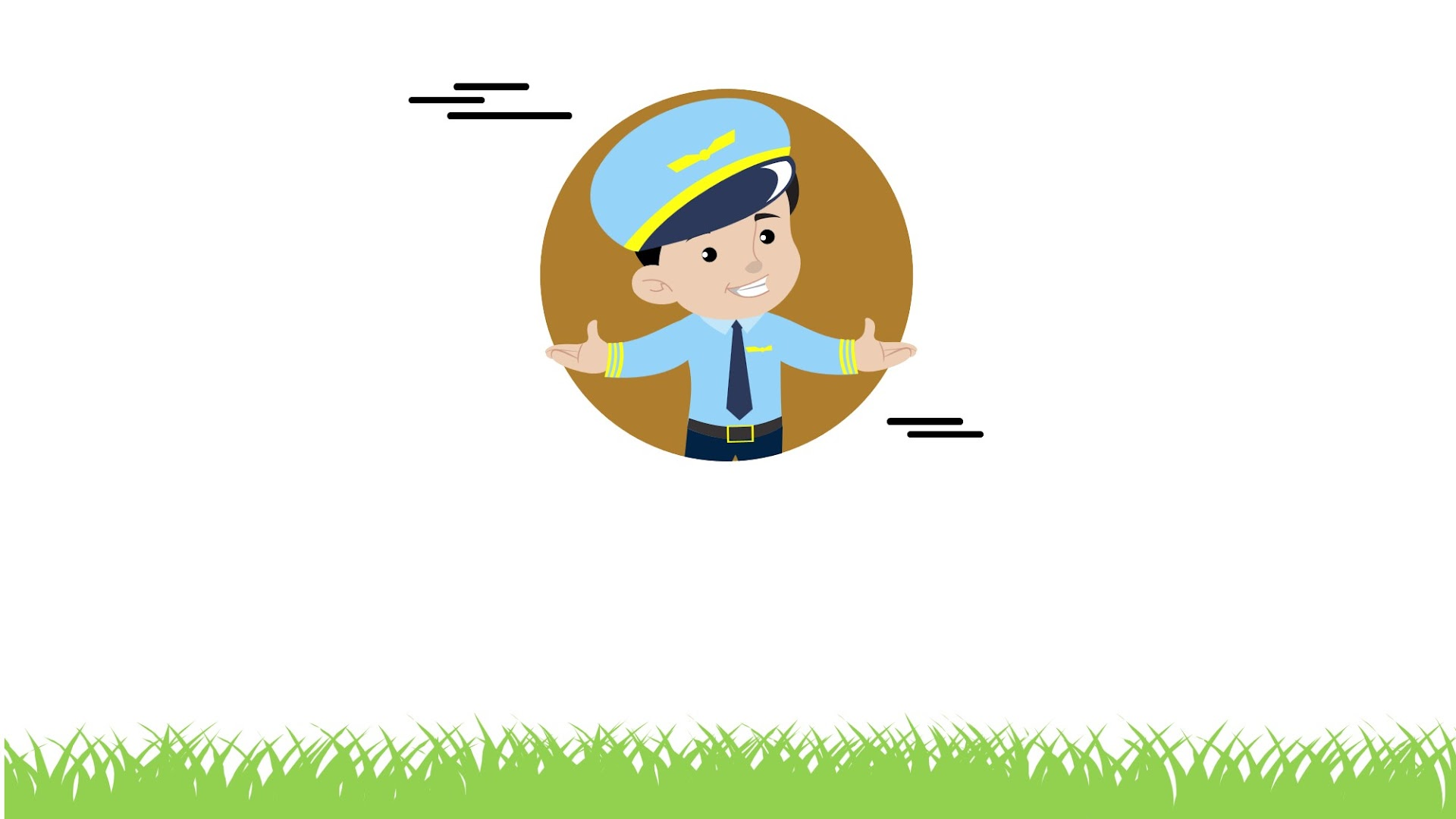 Airplane Pilot Cute Presentation Template Background