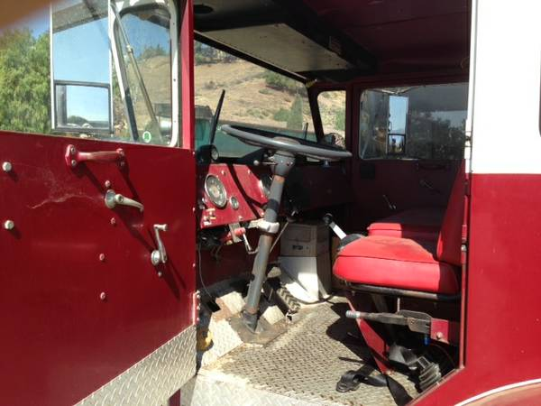 American Lafrance Fire Truck Interior