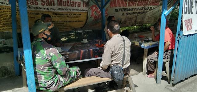 Berikan Himbau Kepada Para Pedagang dan Pengunjung Pasar Patuhi Prokes Cegah Penyebaran Covid-19