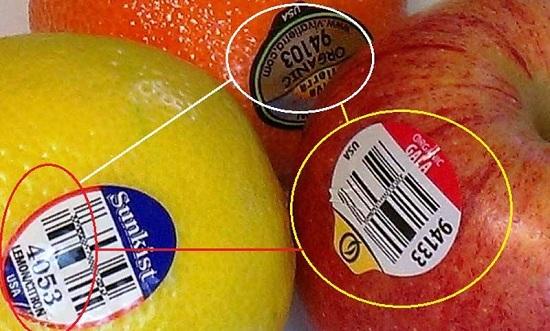 Arti Stiker Angka pada Buah-buahan