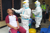 Layak Dicontoh, Puluhan Personil Polsek Mataram Ikut Swab Antigen
