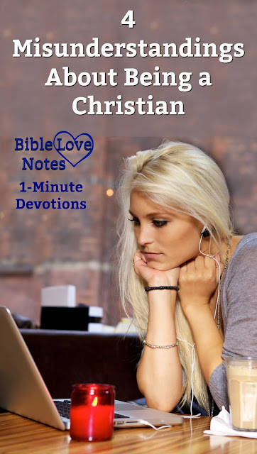 Don't mistake converts with disciples. This 1-minute devotion debunks 4 common misunderstandings about following Jesus. #BibleLoveNotes #Bible