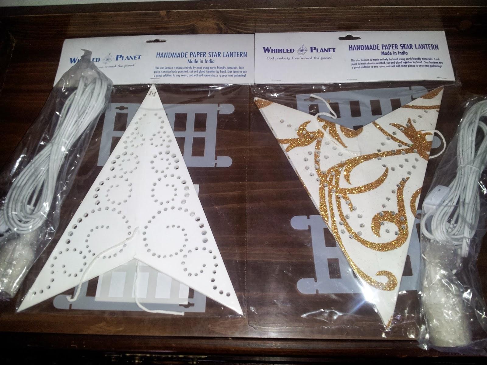 Purity Swirl Paper Star Lantern Novelty Lighting Tools & Home ...