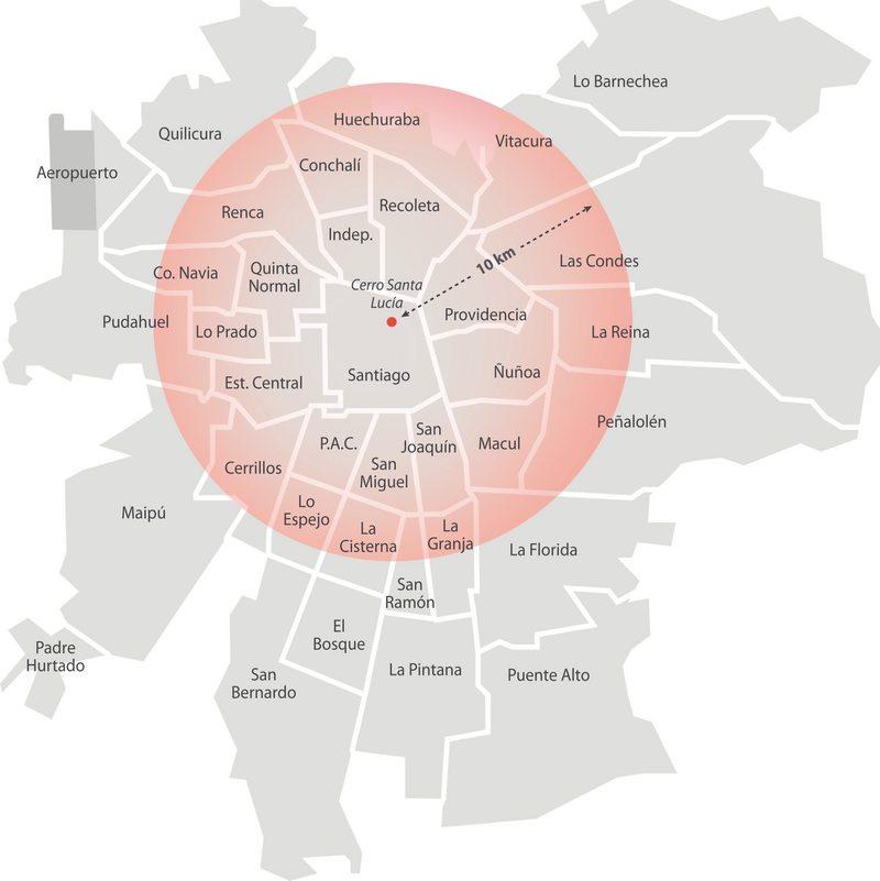 Hasta dónde llega la onda expansiva de 10 km de la explosión de Beirut en Santiago
