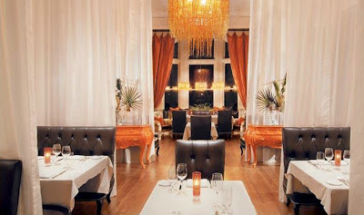 orange chandelier mansion on forsythe restaurant review