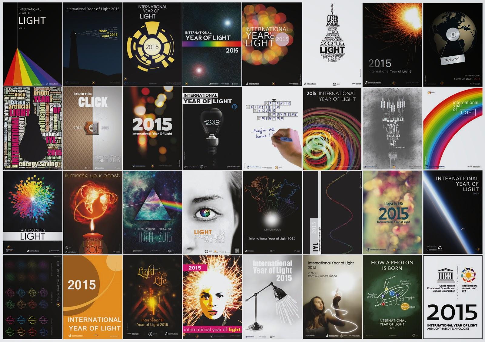 Постеры по случаю Международного года света