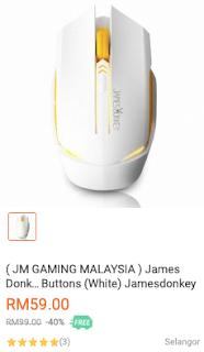 (Ulasan) Tetikus James Donkey 112 Gaming Mouse