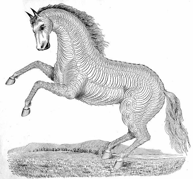 an 1882 calligraphy horse