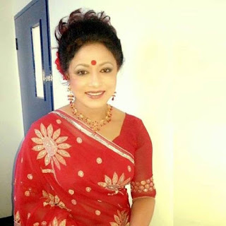 Rozina Bangladeshi Actress In Red Saree