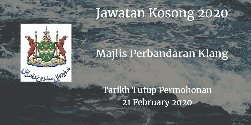 Jawatan Kosong MPKlang 21 February 2020