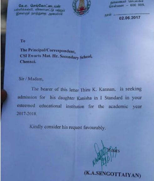 minister-sengottaiyan--recommendation-letter