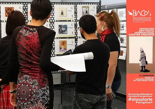 Exposición Colectiva #CadaverExquisito #MailArt en #sanmigueldearbona #BacosSanMiguel Foto: Bacos San Miguel
