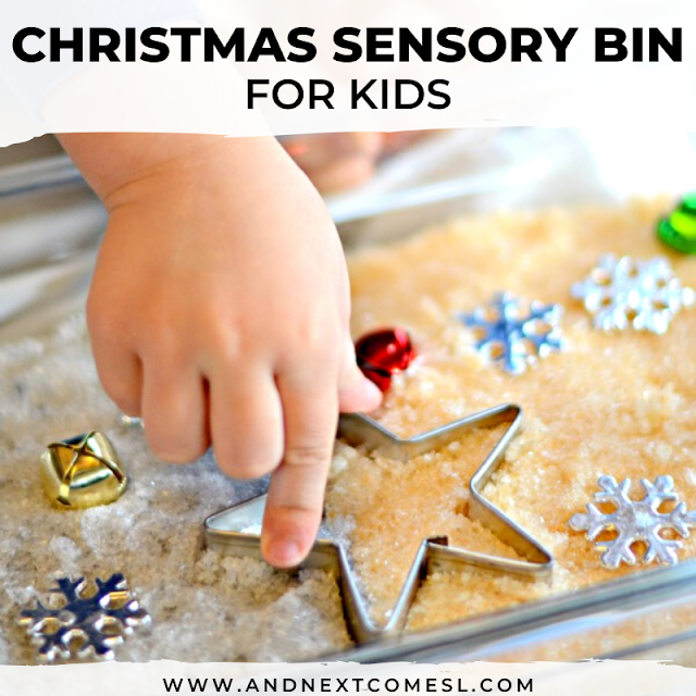 Holiday sensory bin for toddlers