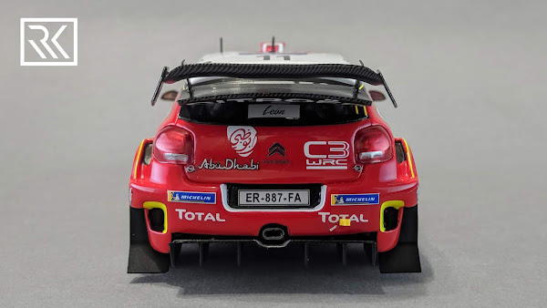 Zdjęcie modelu Spark Citroën C3 WRC, Rally Mexico 2018, S. Loeb / D. Elena