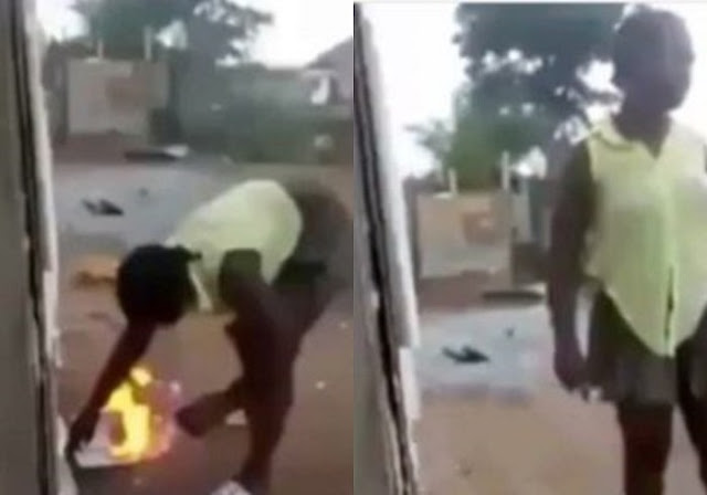 End Times!! 'Bible Is Fake, There's No Power In The Name Of Jesus' – Proud Mermaid Worshipper Burns Bible [VIDEO]