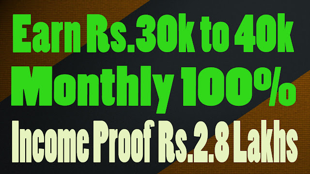 Earn Rs 30k to 40k Monthly without selling or Reffering by SIDDHARTH KANOJIA