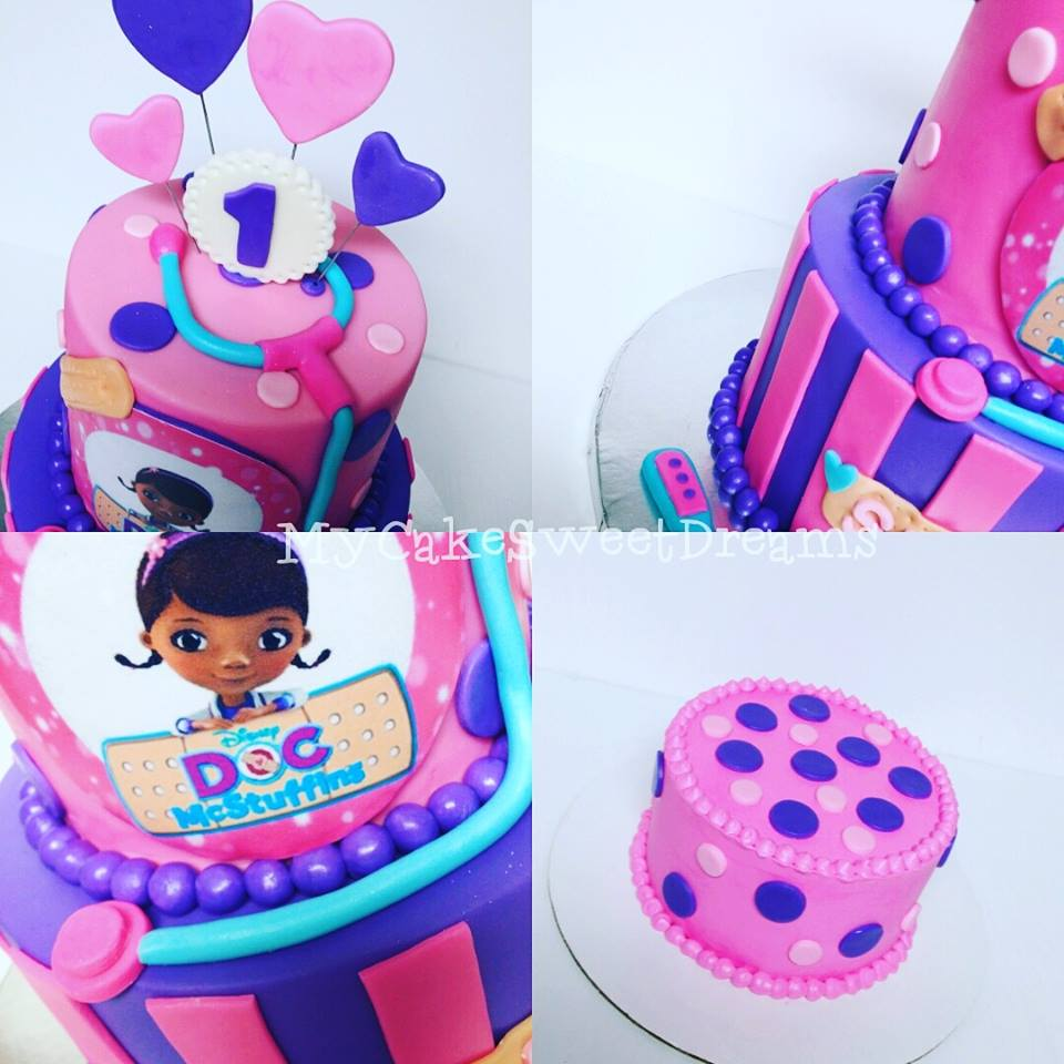 My Cake Sweet Dreams Doc Mcstuffins 1st Birthday Cake