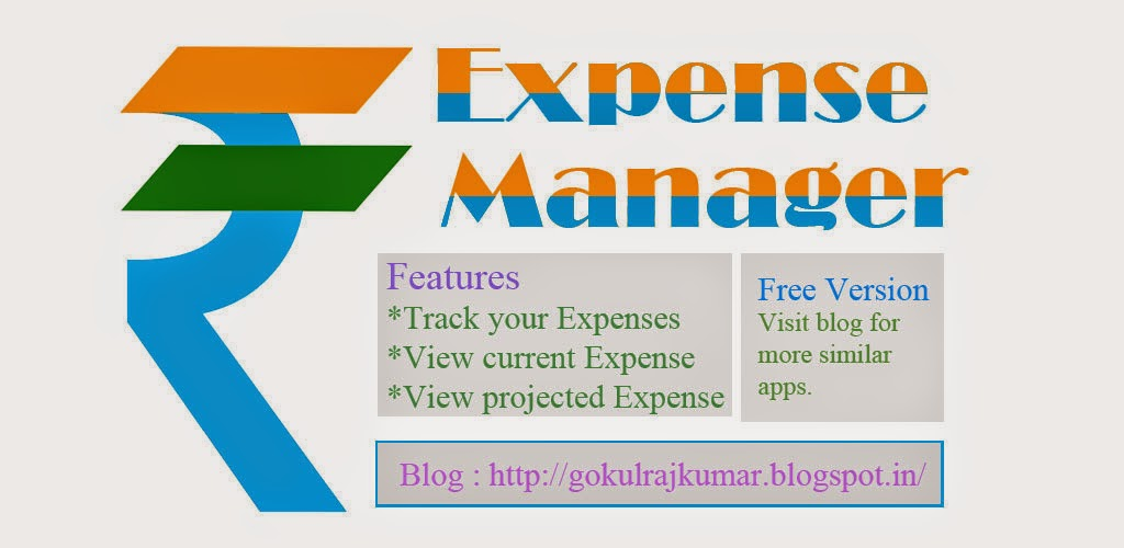 Expense Manager Android Application