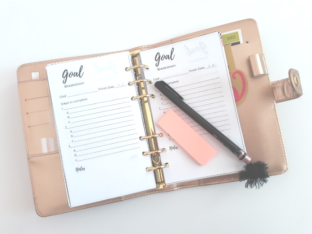 How I Set up my Goal Planner for Success