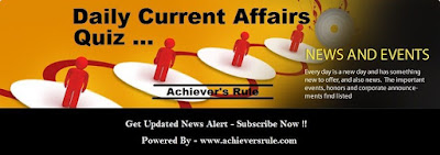 Daily Current affairs MCQ- 2nd And 3rd July 2017