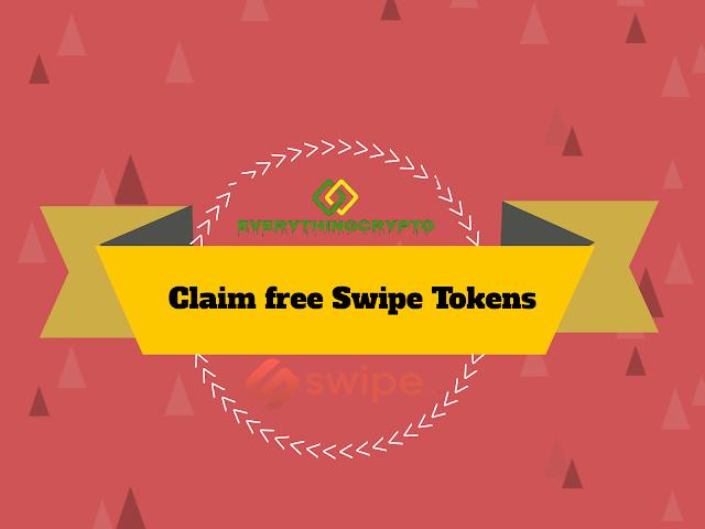 Claim free Swipe tokens