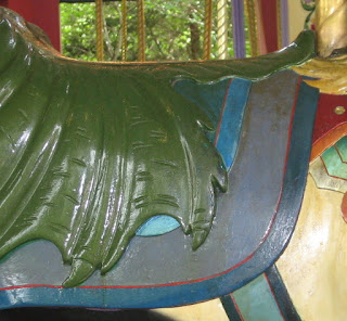 saddle on carousel horse at Columbus Zoo