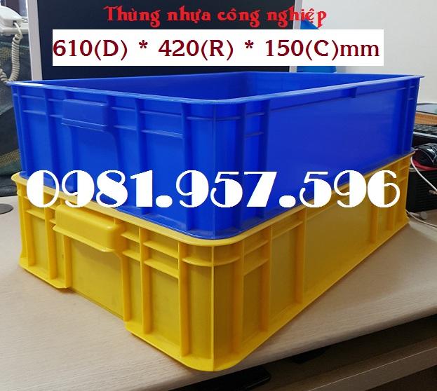 Thùng nhựa đặc 1T5, thùng nhựa công nghiệp, sóng nhựa Hs007
