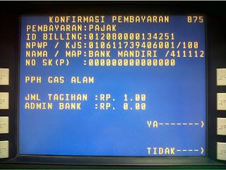 bayar pajak kode billing via atm