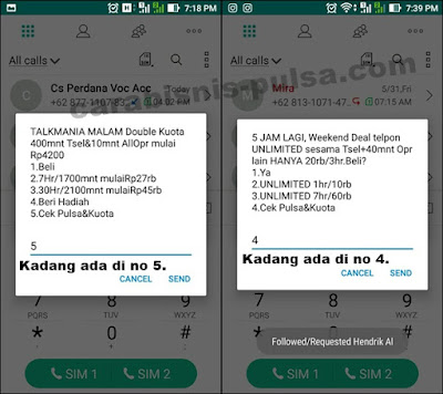 Tips Cek Kuota Internet Simpati via menu Dial