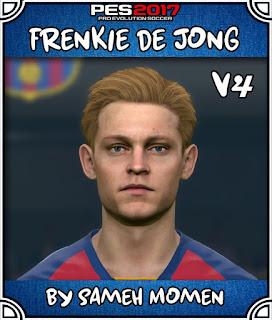 PES 2017 Faces Frankie De Jong by Sameh Momen