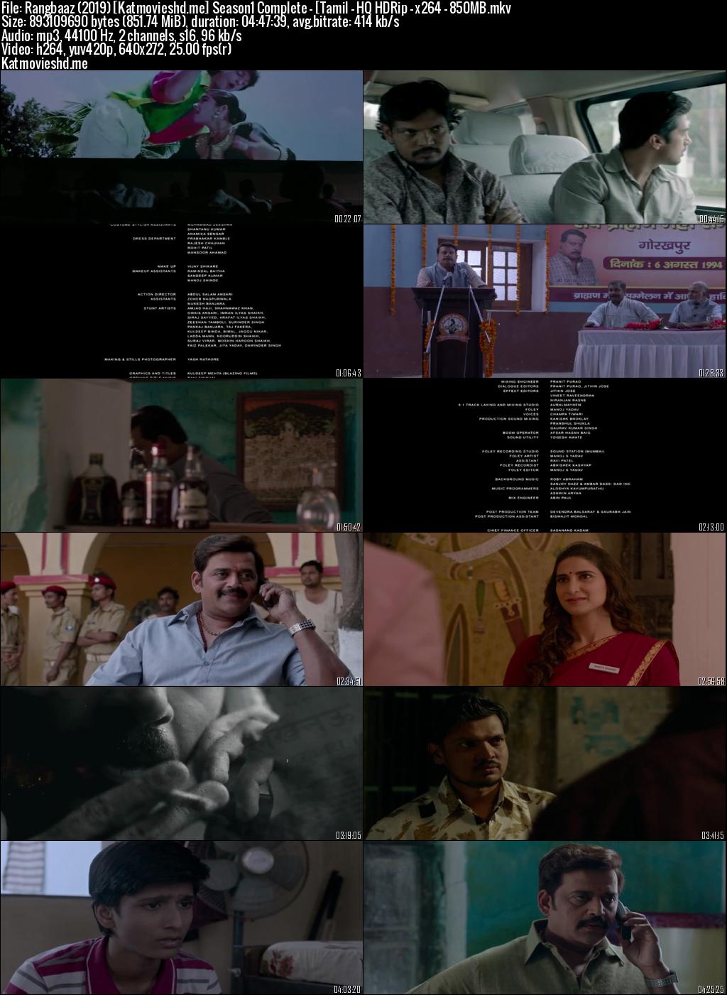 Screenshot of Rangbaaz 2019 Full Tamil Season 1 Complete Download HDRip 720p