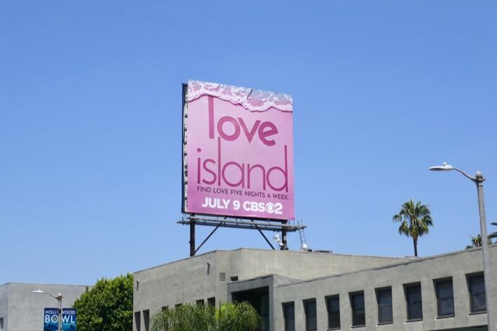 Love Island series launch billboard