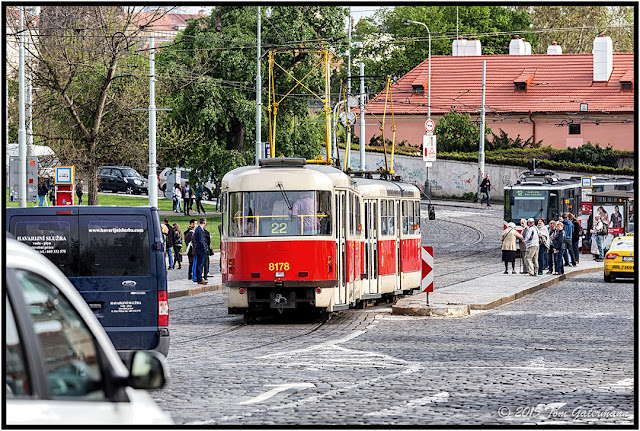 DPP Tram 8178 - Arriving at Malostranská - Lesser Town Prague